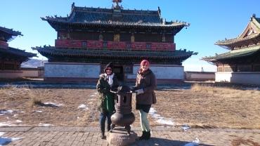Infront of the temple in Erdene Zuu monastery